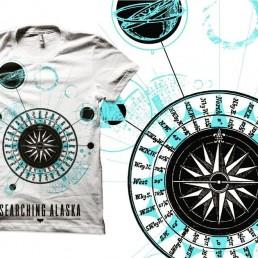 Merchandise design for Searching Alaska