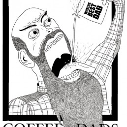 Quick illustration for punk band Coffee Dads