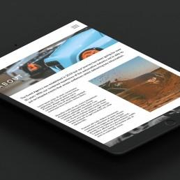 automotive responsive website design the event agency tablet